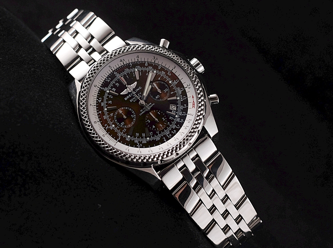 products limited in chronograph dial breitling box charcoal bentley watch watches plum edition store